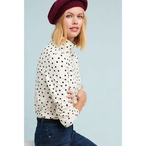 Rare Anthropologie Minuit Turtleneck Dotted S